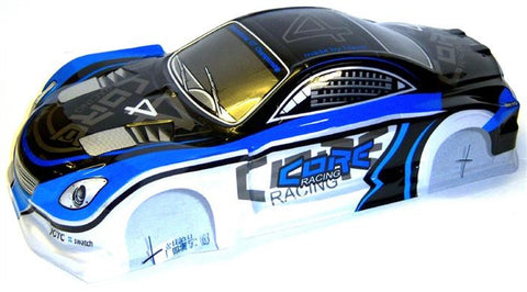 L690 1/10 Scale Drift Touring Car Body Cover Shell RC Blue Silver Uncut