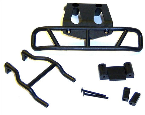 17021 1/10 Scale Black Plastic Front Bumper Set Hi Speed