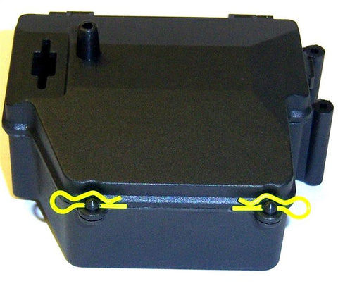 L212 1/8 Scale Plastic Black Battery and Receiver Box Holder Splashproof