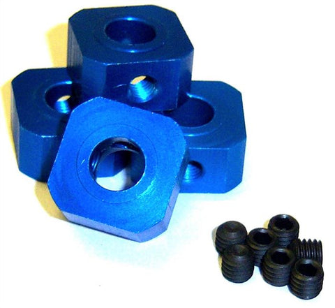 L156 1/5 Scale 17mm Drive Square Brake Hub Aluminium Alloy Blue x 4 17mm x 10mm