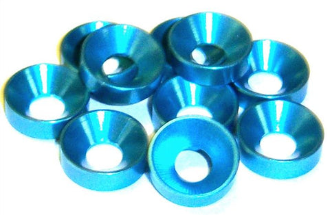 L1430 M3 3mm Countersunk Washer Alloy Aluminium Blue x 10