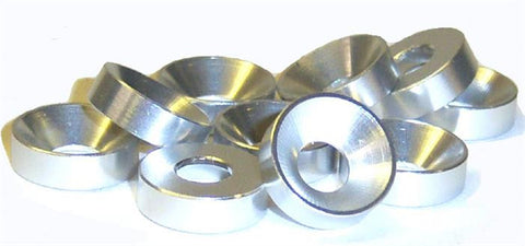 L1454 M5 5mm Countersunk Washer Alloy Aluminium Silver x 10