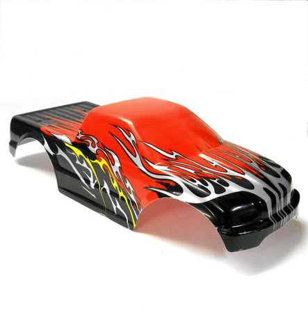 08035 10110-1 RC 1/10 Scale Monster Truck Body Shell Cover Red Cut