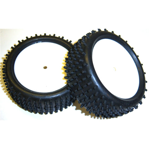 115010 1/10 Scale Off Road Buggy Wheels and Tyres 2 Disc White