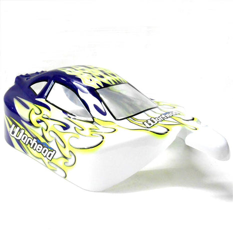 06027 106MA4 Off Road Nitro RC 1/10 Buggy Body Shell Purple Flame Cut