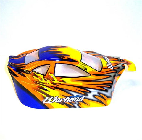 06027 10706 Off Road Nitro RC 1/10 Scale Buggy Body Shell Flame V2 Cut