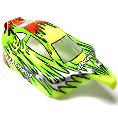 10707 06027 Off Road Nitro RC 1/10 Scale Buggy Body Shell Green Cut