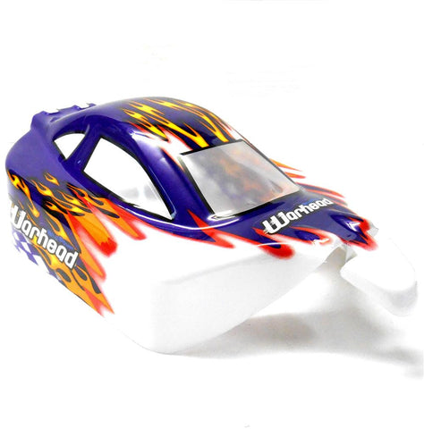 06027 10710 Off Road Nitro RC 1/10 Buggy Body Shell Purple White Flame Cut Ver 5