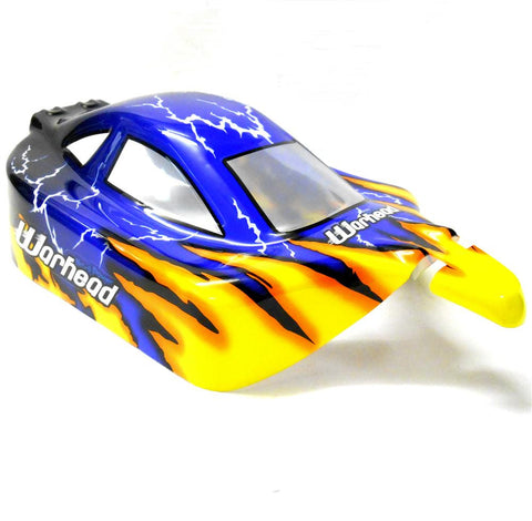 06027 10716 Off Road Nitro RC 1/10 Buggy Body Shell Blue Thunder Cut Ver 5