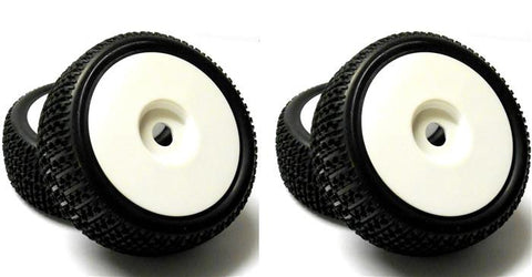 180108 1/8 Scale Off Road Buggy RC Wheels and Tyres Disc White x 4