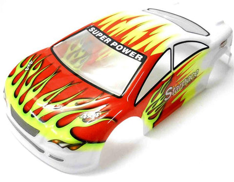 18204 On Road Nitro RC 1/16 Scale Car Body Shell Cover Red