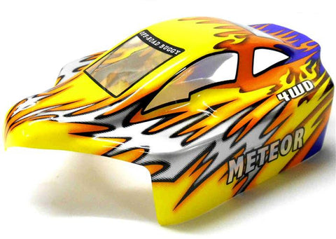 18503 Off Road Nitro RC 1/16 Scale Buggy Body Shell Flame Cut