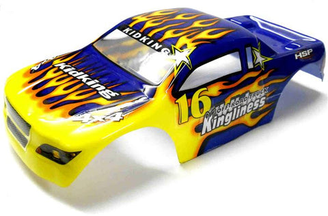 18601 Off Road Nitro RC 1/16 Scale Monster Truck Body Shell Cover Blue