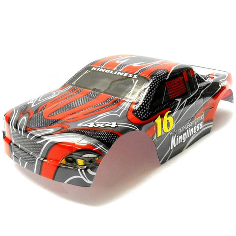 18204 On Road Nitro RC 1//16 Scale Car Body Shell Cover Red