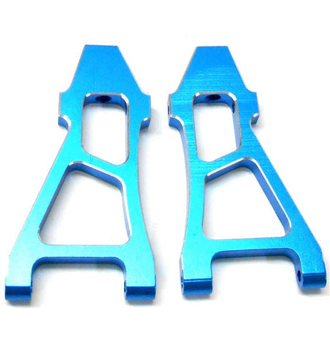 08037b 188019 1/10 Alloy Front Lower Arm x2 Blue HSP