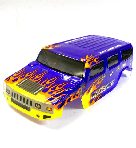 18911 Off Road Nitro RC 1/16 Scale Monster Truck Body Shell Cover Purple Cut