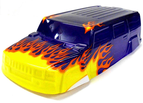 18911 Off Road Nitro RC 1/16 Scale Monster Truck Body Shell Cover Purple Uncut