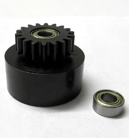 1/10 1/8 Scale .18 + Engine Clutch Bell Housing 18 Tooth Teeth 18T + 2 Bearings