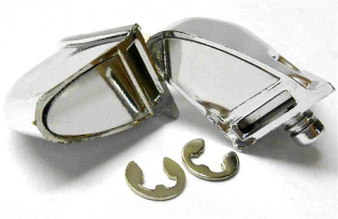 2320022 RC 1/10 Body Shell Cover Accessories Side Mirrors Set Chrome V - B x 2