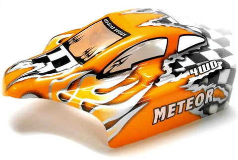 25285-1 Off Road Nitro RC 1/16 Scale Buggy Body Shell Orange Cut