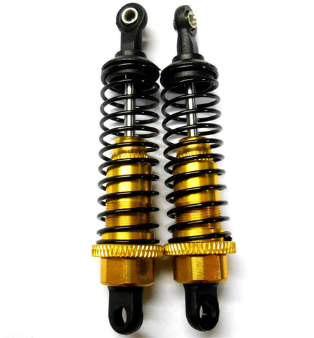 285004Y 1/16 Scale Buggy Monster Truck Shock Absorber Alloy 65mm Long Yellow x 2