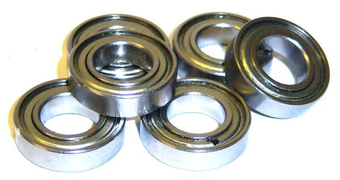 45038 103052 19mm x 10mm x 5mm Roller Ball Bearings x6 19x10x5
