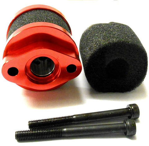 51715R Red Open Alloy RC Petrol Air Filter Sponge 1/5