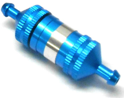 51751B 1/10 1/8 Scale RC Model Alloy Aluminium Oil Nitro Glow Fuel Filter Light Blue