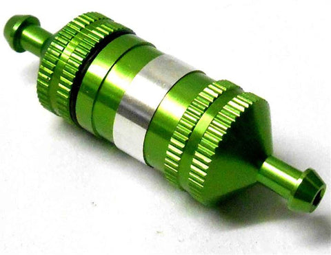 51751G 1/10 1/8 Scale RC Model Alloy Aluminium Oil Nitro Glow Fuel Filter Green