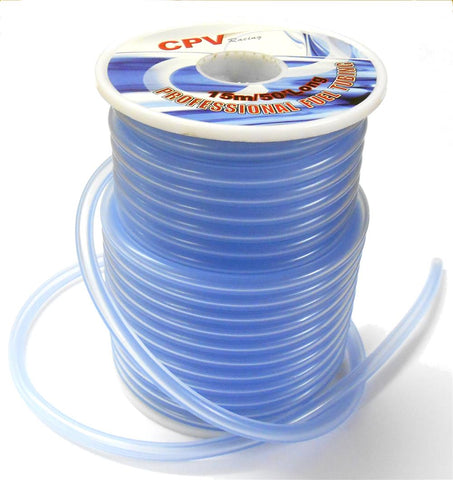 51821B Light Blue RC Engine Nitro Glow Fuel Line 1 Meter 4mm OD x 2mm ID