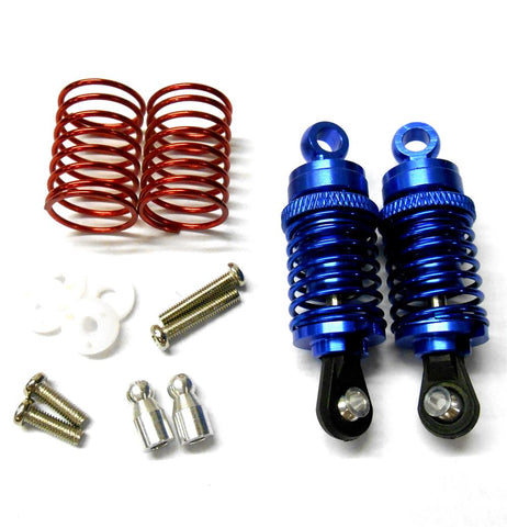 58050B 1/10 Scale RC Alloy Shock Absorbers Damper Set x 2 Blue 50mm Long