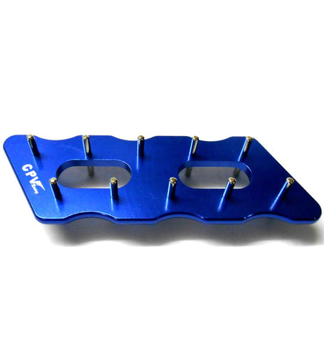 60302B Aluminium Alloy 3mm Pinion Stocker Rack Blue CPV 136mm 45mm