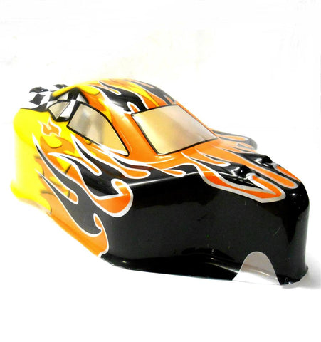 06027 66001  Off Road Nitro RC 1/10 Buggy Body Shell Flame V3 Uncut