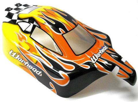 06027 66001  Off Road Nitro RC 1/10 Buggy Body Shell Flame V3 Cut