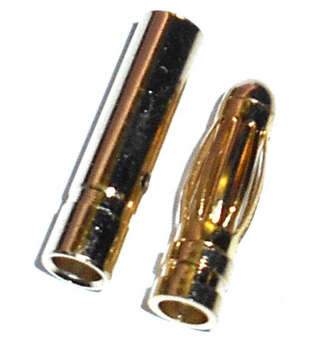 8022 RC Gold Banana Bullet Connector Plugs 3mm 3.0mm 1 Pair
