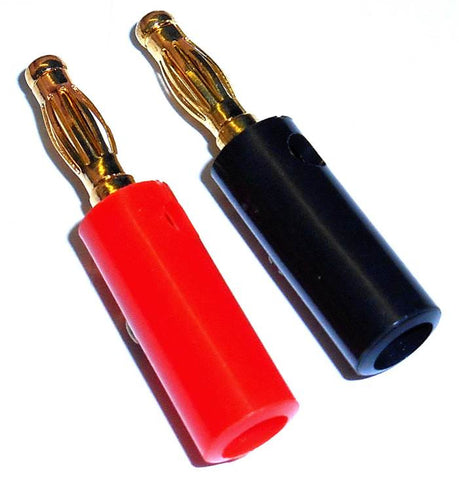 8026 RC Gold Banana Bullet Connector Solderless 4mm Male & Female 1 Pair