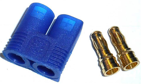 8033 RC EC3 Dev & Batt 3.5mm Male Connector Plug Blue x 1