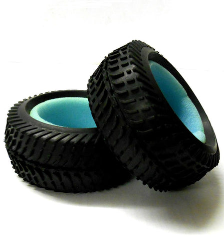 81034 1/8 Scale Off Road RC Rubber Buggy Tyres x 2 Black