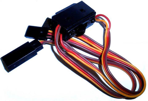 8105 RC On Off Switch w Spare Male Plug 3 Pin JR S