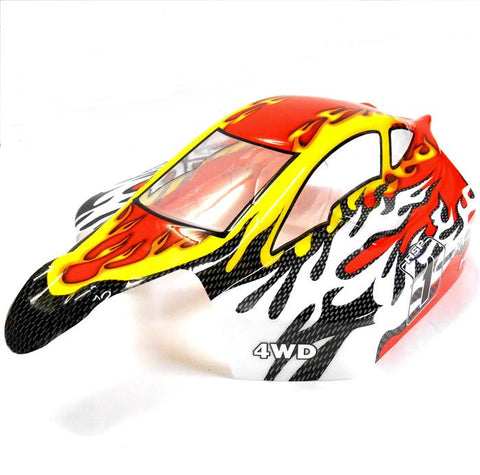 81355 Off Road Nitro RC 1/8 Scale Buggy Body Shell Red White HSP Cut Shell
