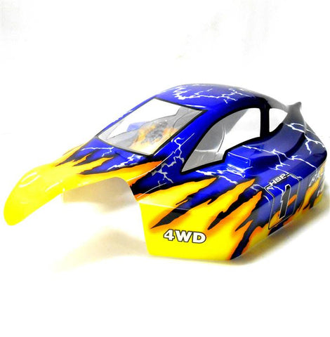 81364 Off Road Nitro RC 1/8 Scale Buggy Body Shell Yellow Blue HSP Cut Shell