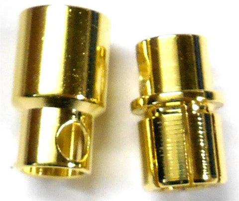 8203 RC Gold Banana Bullet Connector Plugs 8mm 8.0mm