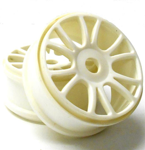 85732 1/8 Scale Off Road RC Buggy Off Road Wheels x 2 White Plastic