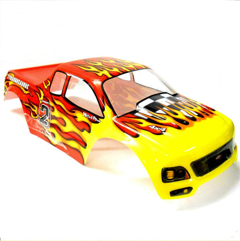 08035 88003 RC 1/10 Scale Monster Truck Body Shell Cover HSP Red V2 Cut