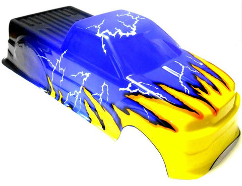 88026 RC 1/10 Scale Monster Truck Body Shell Cover HSP Blue V3 Cut