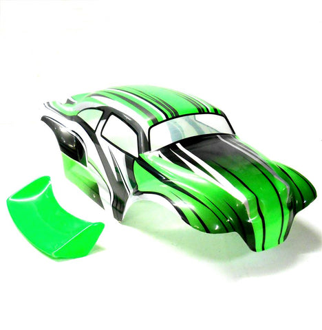 88216 08035 RC 1/10 Scale Monster Truck Body Shell Green
