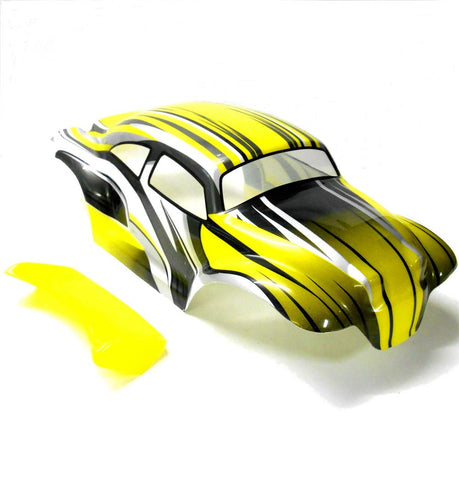 88218 08035 RC 1/10 Scale Monster Truck Body Shell Yellow
