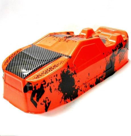 BS214-003O 1/10 Scale RC Nitro Monster Truck Truggy Body Shell Cover Orange