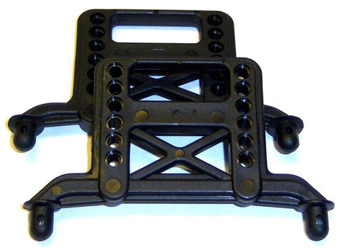 BS801-008 Fr / Rr Front / Rear Body Mount Plastic Black
