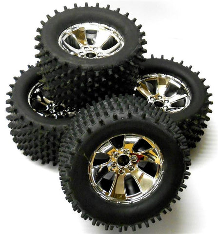 BS904T 1/8 Scale RC Nitro Monster Truck Off Road Wheels and Tyres x 4